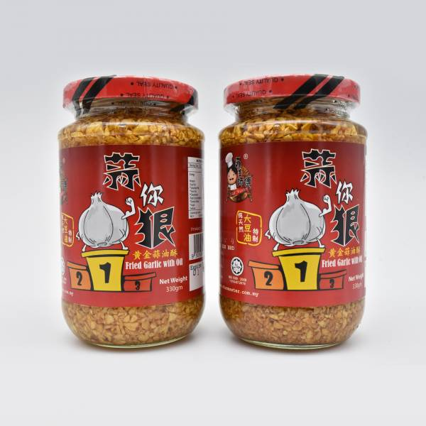 Fried Garlic With Oil 330g - 2 Bottles
