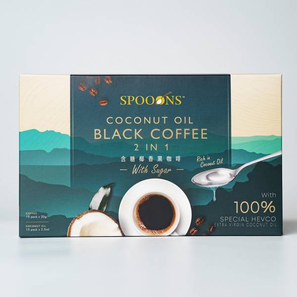 Spoons Coconut Oil Black Coffee (2 in 1)